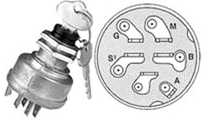 r10723 ignition switch replaces john deere am101561 Universal Ignition Switch 47SA Wiring-Diagram